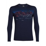 Icebreaker Mens Oasis LS Crewe Sky Night ulltröja, Mens Oasis LS Crewe Sky Night ulltröja, Midnight Navy