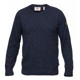 Fjällräven Övik Re-Wool Sweater herrsweater, Övik Re-Wool Sweater herrsweater, Dark Navy